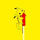 Pikachu on a firework  by Jamie Gothard