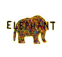 Elephant. In a variety of colours. by chandnisembhi