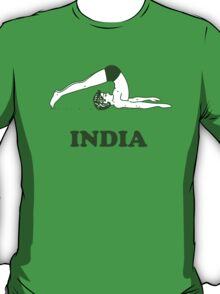 India - Halasana Yoga T-shirt T-Shirt