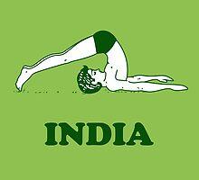 India - Halasana Yoga T-shirt by tshirtbaba