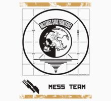 Metal Gear Solid MSF Mess Team Shirt by Tgarncarz