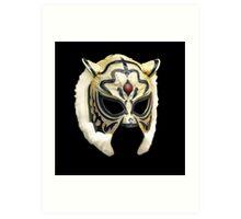 Tiger Mask Vector Art Print