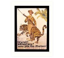 Travel Adventure U.S. Marines Vintage Art Print
