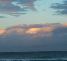 Day's End on Dreamtime Beach. Kingscliff, N.S.W. Nth. Coast. by Rita Blom