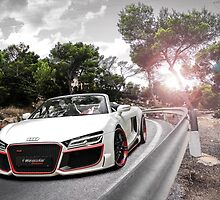 Audi white car by SUZY177