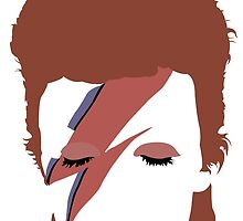 David Bowie - Aladdin Sane Minimal by Posteritty