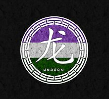 Dragon - Chinese Zodiac Genderqueer Pride by LiveLoudGraphic