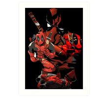 Deadpool Mash-up Art Print
