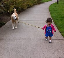 The Tiniest Dog Walker by sailgirl