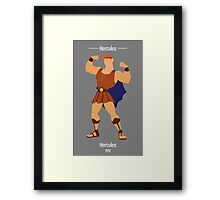 Hercules Illustration Framed Print