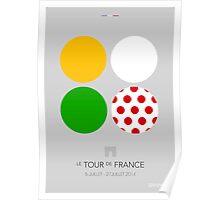 The Jerseys : Tour de France 2014 Poster