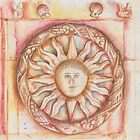 The Sun. stone symbols in the cloister. by terezadelpilar~ art & architecture