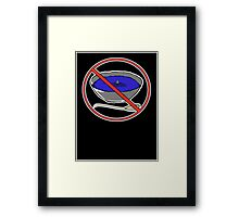 No Shark Fin Soup For You! Framed Print