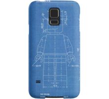 LEGO Minifigure US Patent Art Mini Figure blueprint Samsung Galaxy Case/Skin
