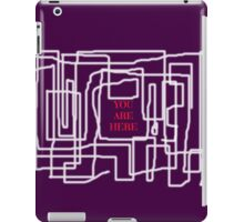 Terrible maze and you are here sign iPad Case/Skin