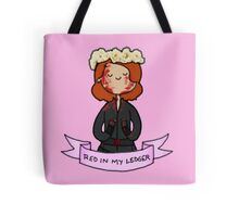 Red in My Ledger Tote Bag