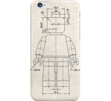 Lego Minifigure US Patent Art iPhone Case/Skin