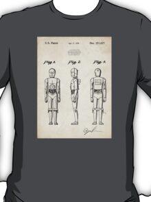 Star Wars C3PO Robot US Patent Art T-Shirt
