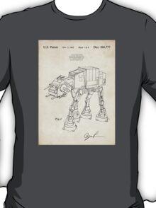 Star Wars AT-AT Imperial Walker US Patent Art T-Shirt