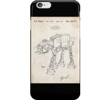 Star Wars AT-AT Imperial Walker US Patent Art iPhone Case/Skin