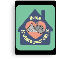 Home Is Where Your Cat Is Canvas Print