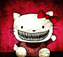 Creepy Hello Kitty by annray