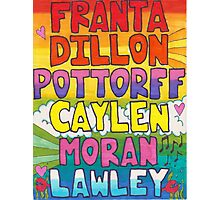 O2L 6/6 FOREVER HAND DRAWN NAMES Photographic Print