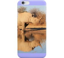 Black Rhino - Reflection of Rare Beauty - African Wildlife  iPhone Case/Skin