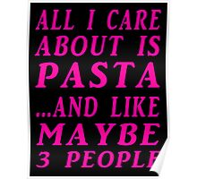 all about pasta pink Poster