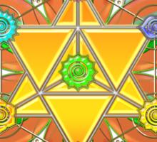 Merkaba, Chakras, Flower Of Life, Metatrons Cube, Sacred Geometry Sticker
