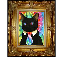Psychedelic Business Cat Photographic Print