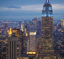 Empire State Blue Night by Inge Johnsson