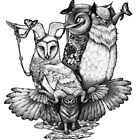 Goatowls (b&w) by zuzannakrolik