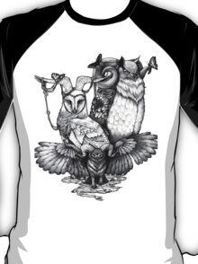 Goatowls (b&w) T-Shirt