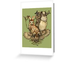 Goatowls (colour) Greeting Card