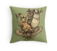 Goatowls (colour) Throw Pillow