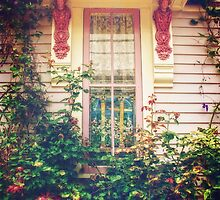 Victorian Cottage Window by Debra Fedchin