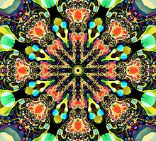 Colourful pattern kaleidoscope by walstraasart