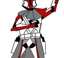 Red Clone Trooper  by Wookiee