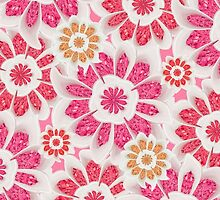 Feminine Flowers Pattern by DFLCreative