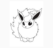 Black and White Flareon by Benjamin Warren