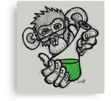 Lab Monkey Canvas Print