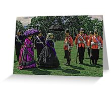 Queen Victoria inspects her troops Greeting Card