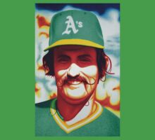 Rollie Fingers Hard Biting Sinkers in Oakland by JMCSharpieArt