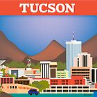 Tucson, Arizona - Retro Travel Ad Styled Illustration by Loose Petals by Loose  Petals