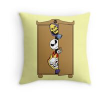 Skeletons in the Cupboard! Throw Pillow
