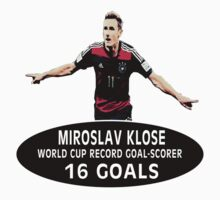 Miroslav Klose - Record World Cup Goal Scorer (16) by LandoDesign