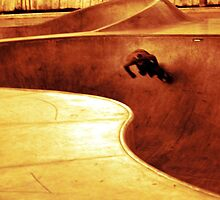 Skateboard - carving the bowl 2 by ThymeJJ