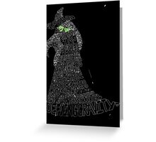 WICKED Musical Elphaba Greeting Card