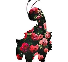 Floral Meganium Silhouette by PrincessPale